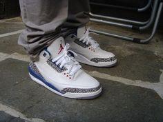 Air Jordan 3 true blue #sneakers