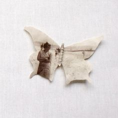 Personalized Butterfly brooch printed with your photograph