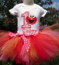 Love the Tutu colors for Vaida's first birthday. Need to find a better shirt.