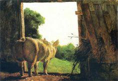 Baby Jane in Summer, 1978 - Jamie Wyeth (American, b. 1946) Contemporary Realism