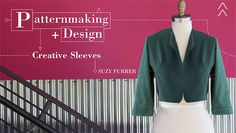 Learn to draft a collection of stylish sleeve variations custom fit for you or anyone you're sewing for. - via @Craftsy