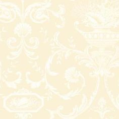 By The Sea Neoclassic Shells Wallpaper-NH6000-Almond-White