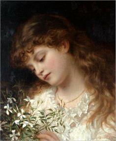 """Jasmine""  Sophie Gengembre Anderson"