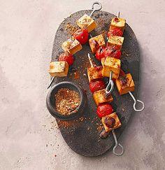 Tofu - Spieße mit Tomaten