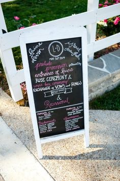 chalkboard ceremony program sign | The Collection