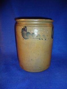 S. H. Sonner, Strasburg, Virginia 1 Gallon Stoneware Jar with Comma Vining…