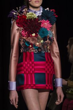 1. (FROM YOUR BOARD) Viktor & Rolf at Couture Spring 2018 used: quilting, bright colours, 3D flowers