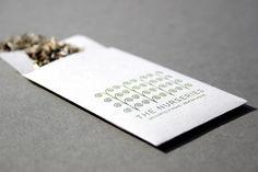 The Nurseries Letterpress Business Cards