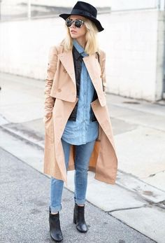 street-look-camisa-jeans-e-trench-coat