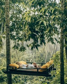 Relaxing at the Kamadalu Ubud Resort in Bali. 📷 by Aggie Lal. Places To Travel, Travel Destinations, Places To Go, Travel Things, Bali Travel, Wanderlust Travel, Luxury Travel, Hammock, Travel Inspiration