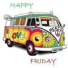 VW Bus Happy Friday