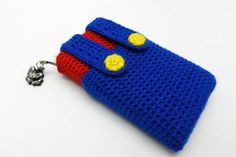 Inspired to make this case while playing Luigi's Mansion 2 Nintendo 3ds, Mario 3ds, 3ds Case, Mario Crochet, Captain America Cosplay, Coin Purse, Crochet Patterns, Wallet, Sewing