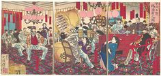 Tsukioka Yoshitoshi (Japanese, 1839–1892). Police Superintendant's Party: A Gift of Food and Drink, September 1877. The Metropolitan Museum of Art, New York. Gift of Lincoln Kirstein, 1960, (JP3387).