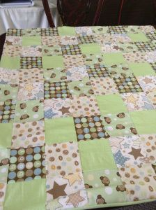 Baby boy quilt...LOVE the colors
