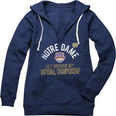 Notre Dame Fighting Irish Women's 2013 BCS National Championship Game Floored Burnout Hooded Sweatshirt - Navy $0.00 http://www.fansedge.com/Notre-Dame-Fighting-Irish-Womens-2013-BCS-National-Championship-Game-Floored-Burnout-Hooded-Sweatshirt---Navy-_356506184_PD.html?social=pinterest_pfid42-67231