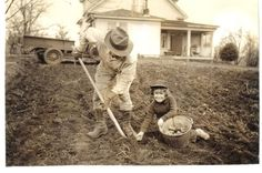 When I was a child I helped in the garden... If you wanted to spend summers on the farm it was a requirement