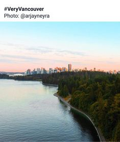 Stanley Park with Vancouver in the background, Stanley Park, Vancouver, Canada, River, Outdoor, Photos, Outdoors, Pictures, Outdoor Games