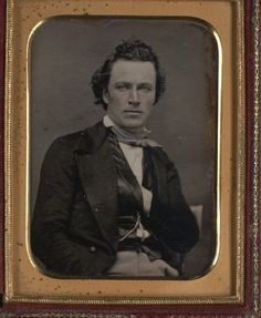 James Stark, early Californian actor, gold speculator and brilliant personality. c. 1850. (Bancroft Library).  Winner of the Michael Fassbender Award for Looking into the Middle-Distance Moodily.  Submitted by I.C. Berry