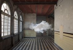 BERNDNAUT SMILDE: I imagined walking in a museum hall with just empty walls. There was nothing to see except for a rain cloud hanging around in the room.  Nimbus D'Aspremont | Berndnaut Smilde