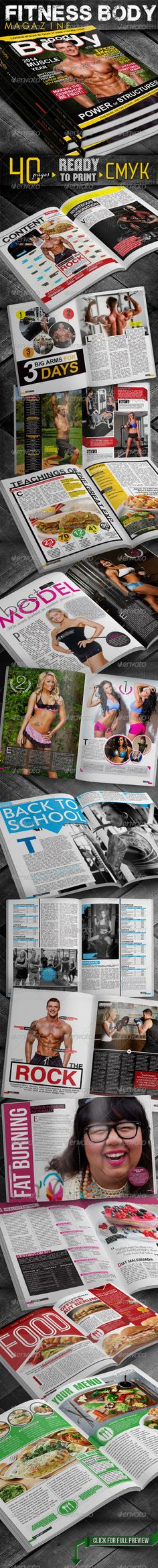 #Fitness Body #Magazine - #Magazines Print Templates Download here:https://graphicriver.net/item/fitness-body-magazine/5959520?ref=alena994