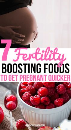 Trying to conceive? Boost your fertility naturally with these 7 foods that are loaded with vitamins and will help you get pregnant quicker. Best fertility boosting foods to conceive faster. #fertility #pregnancy