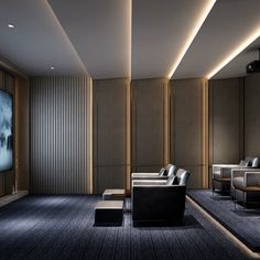 New Chinese Style Video Room 11006 Model available on CGmodelX, High quality Produced by Design Connected. Auditorium Design, Home Cinema Room, Home Theater Rooms, Home Theatre, Home Design, Home Theater Design, 3ds Max, Piscina Hotel, Home Theater Lighting