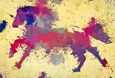 horse abstract art