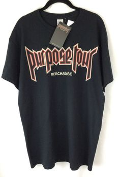 4be9d0a4a500 New Justin Bieber Purpose Tour Shirt Urban Outfitters Merchandise Size Large