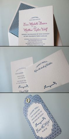 Smock can create a customized letterpress wedding invitation suite for you!