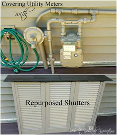 Awesome Covering A Gas And Electric Meter With Old Shutters Hides An Eye Sore And  Creates A