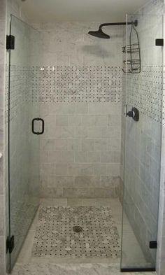 Shower Ideas With Tile i like this shower! gray tile, tiny subway tiles, built-in shelves