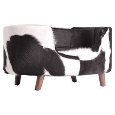 Fido Lounger - For all of you with pups, pamper them with this stylish cow hide dog bed. Finally, a cozy and cute sleeper for your loyal friend that you won't want to push under the couch or throw in the closet when your guests arrive. Chair Bed, Pet Beds, My Living Room, Joss And Main, Fur Babies, Cute Dogs, Mid-century Modern, Contemporary, At Least
