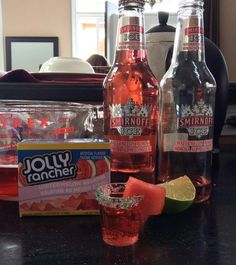 Jolly Rancher Watermelon Jello Smirnoff Ice Watermelon Mimosa your friends won't be able to stop at just 3 shots Margarita Cocktail, Cocktail Drinks, Cocktails, Jello Shot Recipes, Alcohol Drink Recipes, Salad Recipes, Liquor Drinks, Alcoholic Drinks, Vodka Drinks