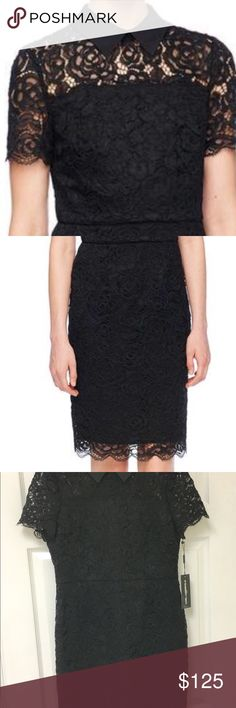 Sale! Karl Lagerfeld Paris black lace dress Reduced for party. Limited time offer!! NWT Karl Lagerfeld Paris black lace dress, size 10. Stunning and classic!  Purchased at sample sale. Not my size but could not pass it up!  Make my loss your gain!! Karl Kagerfeld Paris Dresses Mini