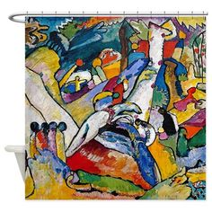 Kandinsky Composition 2 Shower Curtain on CafePress.com