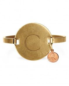 Solid-Brass Recycled Locker Tag Bracelet by Spoon Sisters, $45  A favorite of several Living editors, this bracelet, customizable with a mom's initial (or her child's), looks more precious than it costs.