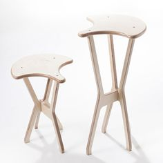 Bike saddle stool: Sella/Sellino Stools by bibi Design is simple seating, assembled from interlocking components, available in two heights, inspired by (and named in Italian from) the bicycle saddle. In beech plywood, and natural, light green, and lilac finish. http://mocoloco.com/fresh2/2014/03/27/sellasellino-stools-by-bibi-design.php