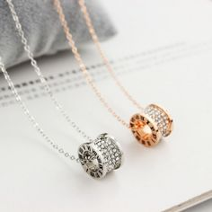 I find this  Rose Gold Ring Diamond Pendant Short Chain Women Necklace for long time~! At last I found it from AtWish.com.