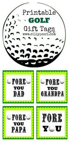Printable Golf Gift Tags #ForDad - The Silly Pearl