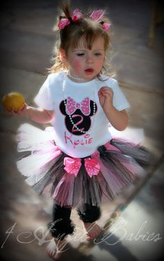 MINNIE MOUSE Inspired Pink & Black Dot 3 Piece by 4AngelBabies, $52.49