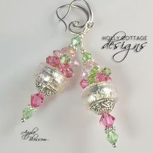 Apple Blossom Earrings from Holly Cottage Designs