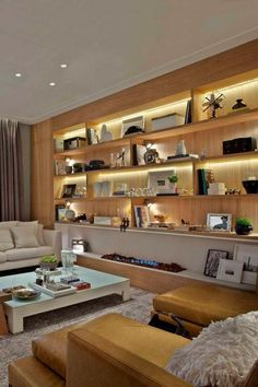 Tips For Buying New Living Room Furniture - Ideas For Room Design New Living Room, Living Room Decor, Living Room Modern, Living Room Designs, Sala Grande, Dining Room Lighting, Wall Lighting, Strip Lighting, Living Room Remodel