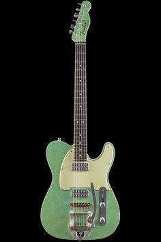 Fender Custom Shop Telecaster Double TV Jones Relic Seafoam Green Sparkle 754 | eBay