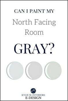 Can I paint north facing room gray. Northern exposure home. Kylie M interiors Edesign, online virtual paint colour consultant. Light Grey Paint Colors, Warm Gray Paint, Best Gray Paint Color, Best White Paint, Paint Colours, Bedroom Paint Colors, Paint Colors For Living Room, Room Colors, House Colors