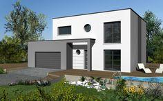Lola Design est un modèle de maison de style moderne. Elle possède 5 pièces pour une surface de 108 m². Gamme design - Maisons HCC