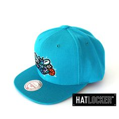 Charlotte Hornets Plain Teal Snapback by Mitchell & Ness   www.hatlocker.com #nba #charlotte #hornets #snapback