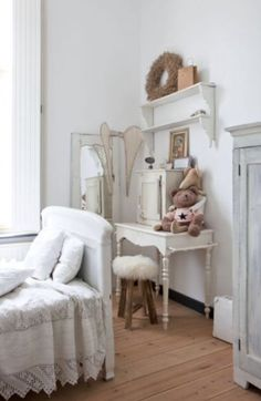 "This brocante girls bedroom is from our feature ""Magical Moments"""