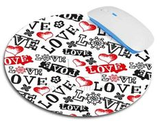 Tappetino mouse tondo Love in caos