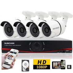 8CH 1080P HDMI DVR AHD 2.0MP Outdoor CCTV Security Camera Surveillance System 1T #SUNCHAN