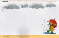 schrijfpatroon regen voor kleuters, free printable